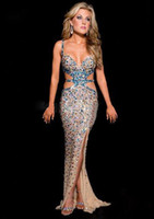 Sweetheart best gold beauty - Best selling Sexy beauty full beaded crystal Prom Dresses cut out backless full length Evening gowns party dresses for wowan