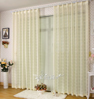 Wholesale hot amp fashion tape top for bedroom amp balcony Pleated curtain finished curtains europe gauze good quality