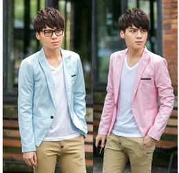 Wholesale 2014 new Korean fashion men s suits slim fit casual jackets blazer men coats outwear upper garments tops men s clothing clothes