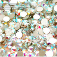 Wholesale SS3 SS34 Crystal Glue Fixed Flatback White AB Clear AB Rhinestone Nail Art Decoration Jewelry accessories