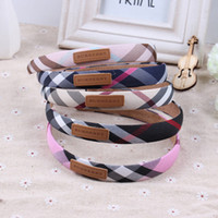 Wholesale Europe and the United States new plaid hair hoop fashion plaid head band British fashion hair accessories ladies headwear accessories