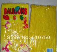 Wholesale 100Pcs Pack Yellow Long Shape Tying Twisting Qua latex Magical Modelling Balloons Wedding Birthday Christmas Holiday Decorations