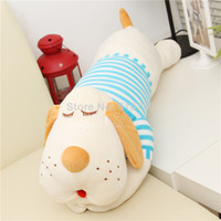 Teddy Bear White Plush Classic Striped Navy Wind Lies Prone Plush Toy Dog Doll Large 70CM Cute Creative Pillow Hot Sale Plush Animals Christmas Gifts