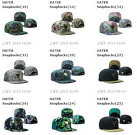 Wholesale Many Hot Selling HATER Hat Snapbacks Baseball Hats Caps Metal Logo Mixed Order Sport cap Snapback Size Adjustable High Quality