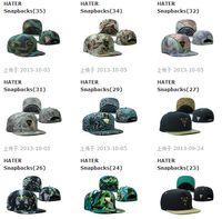 Ball Cap snapback wholesale - Many Hot Selling HATER Hat Snapbacks Snapback Baseball Hats Caps Metal Logo Mixed Order Sport cap Snapback Size Adjustable High Quality