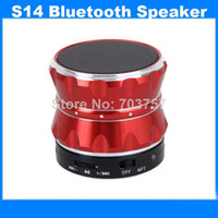 Wholesale Free DHL New Super Bass Mini Portable Bluetooth Wireless Speaker Slot Handfree Mic Stereo Portable Speakers TF Card Call Function