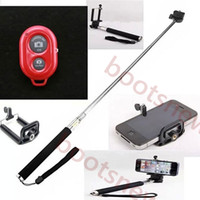 Wholesale New in Camera Tripod Extendable Handheld Camera Monopod with cellphone holder for iPhone Samsung HTC Digital Camera DHL free