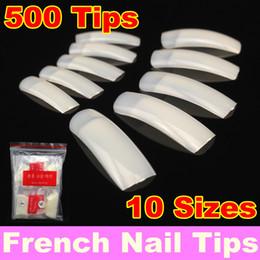 Wholesale-MN-[ Retail ] 500Pcs Pack Natural French Nail Tips False Acrylic Nail Art Tips + Free Shipping