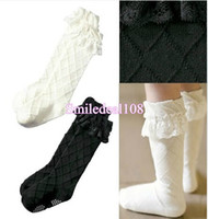3-6T ruffle socks - Fashion Kids Girls Stocking Sock Lace Floral Ruffles Princess Cotton Knee High Socks