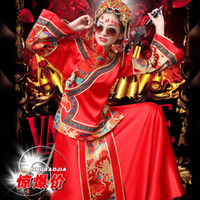 Wholesale Hi Square Chinese dragon gown bride wedding dress bride toast red cheongsam dress bridesmaid dresses for pregnant women