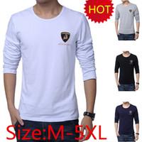 Wholesale Autumn Men Dress T Shirts Fashion Embroidery Decoration Brand Slim Fit Tees Top Quality Plus Size M XL T160