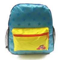 Wholesale 2014 new Korean version of the small star Dot Series lightweight fabric backpack schoolbag children