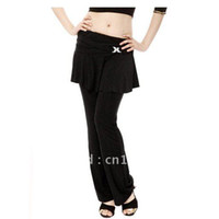 Ball Cap Black Woman Yoga Tribal Belly Dance Costume Pants , big size belly dance pants , Work-Out Unitard-Body