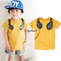 Boy Summer Fashion Hot 2014!!Children Clothing Set Cool Casual Boys Music Headphones T-shirt+Shorts Summer Baby Set SV001849#008