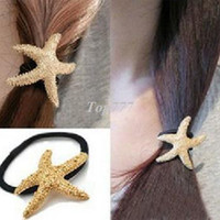 Barrettes & Clips american hair band - fashion lovely Starfish star hair band hair clip hair Accessories jewelry cRYSTAL sHOP