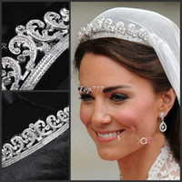 Barrettes & Clips Party Chirstmas Top quality Luxury Classic Bride European Rhinestone crystal Bridal Hair Crown Tiara wedding dress accessories