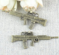 Wholesale RYQY45 MM ZAKKA retro popular gun charm DIY jewelry accessories material gun shaped charms pistol charm
