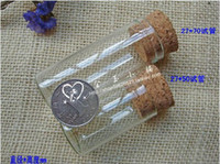 Others Unisex Other Jewelry Free Shipping 12pcs factory wholesale very cute glass vials Glass Bottles small bottles with corks