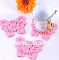Wholesale Creative fashion Mini felt cute butterfly cup mat coaster cup mat retail