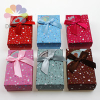 Wholesale x8x2 cm Mixed Color Fashion Heart Paper Jewelry Gift Packaging Box Fit Necklace Earrings Ring