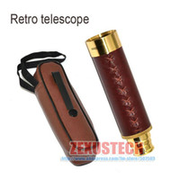 Wholesale 25x30 Brass Collapsible Folding Spy Tele Scope Monocular Telescope New in Box