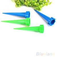 Wholesale 4Pcs set Garden Cone Watering Spike Plant Flower Waterers Bottle Irrigation System Kits Tool