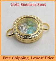 Slap & Snap Bracelets Unisex Chain & Link Bracelets Wholesale DIY 20mm crystal Gold magnetic 316L stainless steel living glass floating locket bracelet B28