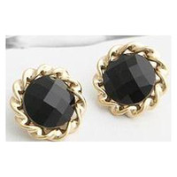 Charm Party Alloy 2014 new Arrive Fashion Sunflowers Crystal Beautful Black Earrings Wings Cameo Innovative Items C704