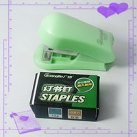 stationery and office supplies - Small Stapler and Staples Office Stationery Paper Finisher School supplies