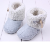 Wholesale NEW Pair Baby Toddler Boys Girl Warm Winter Boots Light blue color