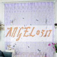 Wholesale Romantic Home Upscale Korean Line Encrypt Butterfly Decorative Curtain Fedex