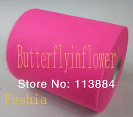 Wholesale 6 Inch Yards DIY Rolls Fabric Wedding Raw Material Tutu Tulle High Quality
