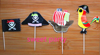 Wholesale pirate art toothpick party birthday wedding valentine decoration styles Event amp Party Supplies party favors