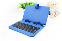 Wholesale Universal Micro USB Keyboard PU Leather Case inch for Android Tablet PC Epad Apad Zpad MID Stand Holder Card Buckle Scalable