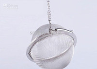 tea ball strainer - Tea Infuser Stainless Steel Tea Pot Infuser Sphere Mesh Tea Strainer Ball cm