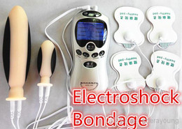 Wholesale Electroshock Vagina Anal Electro Shock Electrodes Dildo Plug Pad BDSM Gear Bondage Kit Adult Games Pleasure Sex Products Toys for Couple