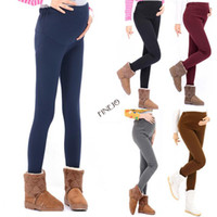 Wholesale HOT DEAL Thick Heavy amp amp Warm Maternity Leggings Ankle Length Pregnancy Pants Drop shipping