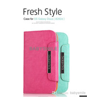 Wholesale KALAIDENG Fresh Style For Samsung Galaxy i9300 i9500 N7100 iphone4s Mobile Phone Cover Holster With Bank Card Slot