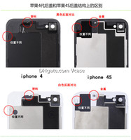 Wholesale Back Cover For iPhone s The Glass Back Cover Replacement Repair Parts
