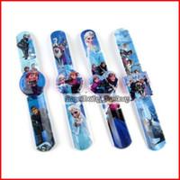 Wholesale Best Seller Cartoon Frozen Magic Ruler Children Magic Funny Ring Pops Pat Circle Frozen Magic Watches Wrist watch