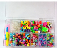 rainbow loom refill bands wholesale - New DIY Rainbow loom Refill Beads Box kit UV beads Alphabet Beads Charms Box Kit Rainbow Loom Bands DIY Bracelets Luxury Gift Box Kit