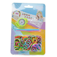 Cheap 2014 New Arrival Funny DIY Knitting Braided loom Watch Rainbow Loom Rubber Bands Kits Rubber Bracelet DIY Loom Watch(Watch+Bands+Clips+Hook)
