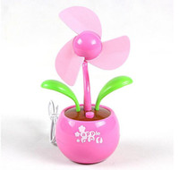 Wholesale Mini Fans Portable USBUSB battery dual Apple Blossom Apple Blossom Fan Fan mini fan small fanPetit ventilateur