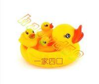 Wholesale bb baby bath water toy Bathroom yellow duck kids bathe sound ducks children swimming beach toys