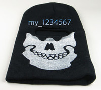 Cheap free shipping Full Face Mask Black Veil Ghost Skull Ski Hood Winter Cycling Skateboard Warmer