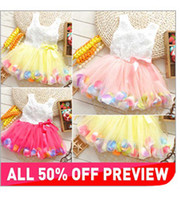 TuTu Summer Pleated Wholesale!!New 2014 flowers cotton girl dress summer baby girl dresses kids clothes fashion child girl clothing party dress retail CF056