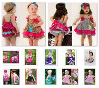 Wholesale Leopard Baby Girl s Clothes Suits Sleeveless Dress Underpant Sets Zebra Dresses Diaper Cover Cotton