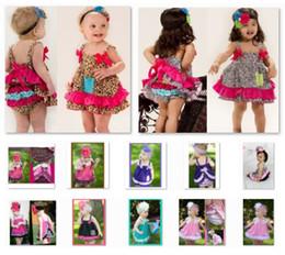 Leopard Baby Girl's Clothes Suits Sleeveless Dress Underpant Sets Zebra Dresses Diaper Cover 100% Cotton