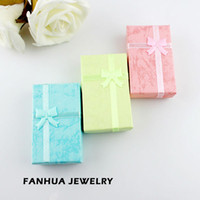Wholesale Fashion Design Items Colorful Paper Elegent Double Rings Earrings Jewelry Box Gift Package