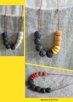 Wholesale geometric necklace CHIC lava stone rock NW1739
